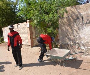 حملة للنظافة العامة بالمقابر بحى ثان الإسماعيلية (صور)