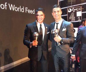أبو هشيمة يهنئ رونالدو لحصوله على جائزة أفضل لاعب في العالم 2017