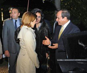 17 صورة ترصد استقبال وزيرة الجيوش الفرنسية للرئيس السيسي