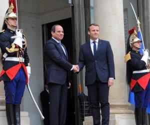 خلال زيارته لباريس.. السيسي يصل مقر مجلس الشيوخ الفرنسي