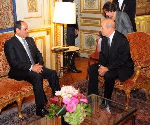 وزير الخارجية الفرنسي للسيسي: مصر تمثل دعامة رئيسية للاستقرار في الشرق الأوسط