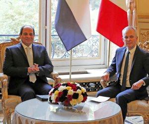 السيسي لرئيس النواب الفرنسي: حريصون على إنشاء دولة ديمقراطية تقوم على القانون (صور)