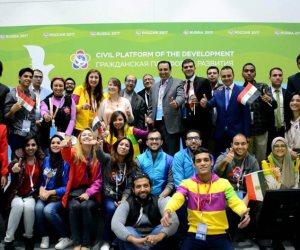 """بعد مشاركتهم في مهرجان """"الشباب والطلبة"""".. 102 مصري من روسيا: شكرا"""