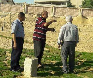 تفاصيل أعمال تجميل وإنشاءات مداخل مستشفى بئر العبد تمهيدا لافتتاحه (صور)