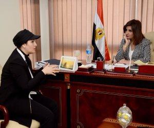 """""""غنيم"""" تبحث مع وزيرة الهجرة وضع نظام تنبؤ بالسيول وأماكن المياه الجوفية"""