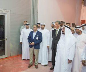 سلطان القاسمي يتفقد معرض الشارقة الدولي للكتاب قبل افتتاحه (صور)