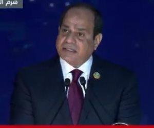 الرئيس السيسي: أرض السلام تستضيف الحلم من أجل عالم بلا إرهاب