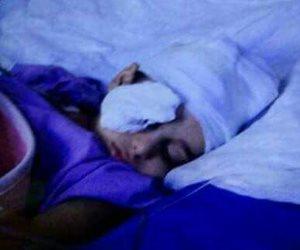 إصابة طفل بشظايا في عينه أثناء لهوه بالشارع بالشرقية