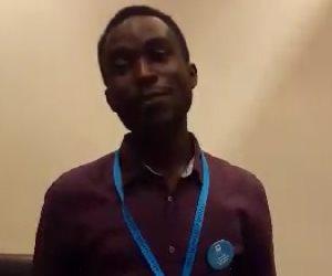 """من قلب مهد الحضارات.. نيكولاس جاء من أوغندا ليرسل رسالة سلام للعالم  """"فيديو"""""""