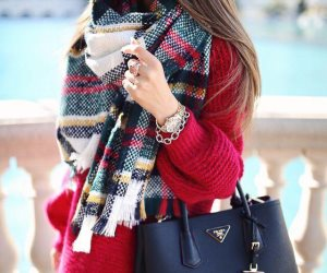 بعض تنسيقات الملابس الشتوية مع البنطلون الأبيض