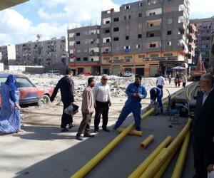 بدء ترحيل خطوط الغاز المعترضة لمسار مشروع الصرف الصحي غرب الإسكندرية