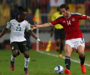 أداء متوازن للفراعنة في مباراة مصر وغانا بعد مرور 15 دقيقة