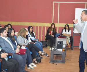 عمرو الكحكي محاضرا بورشة عمل الملتقى العربى للتدريب الإعلامي