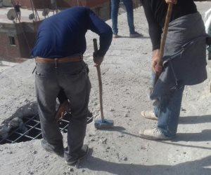 """""""غرب الإسكندرية """" ينفذ قرارات ازالة 3 عقارات مخالفة (صور)"""