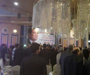 مؤتمر جماهيري لدعم السيسي بحضور وزير التنمية المحلية الأسبق بأبو حمص (صور)