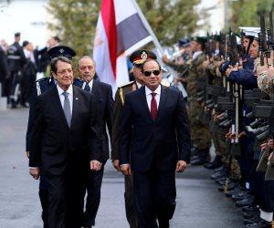 صور لأرفع وسام في قبرص يتقلده الرئيس السيسي