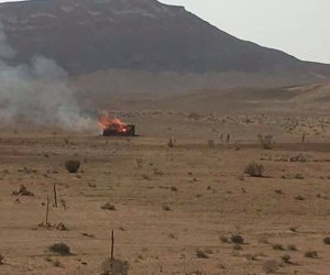 مقتل تكفيريين وتدمير 6 دراجات نارية في وسط سيناء (صور)