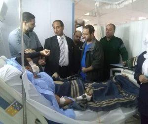 وكيل وزارة الصحة بشمال سيناء يزور مصابي مسجد الروضة بمستشفى العريش (صور)