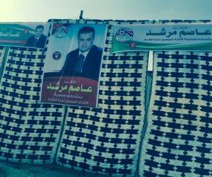 انتخابات اتحاد الكرة .. دعاية انتخابية لمرشحي الجبلاية علي بوابات الهدف (صور)