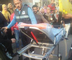 """إصابة امرأة في شارع الهرم.. """"السواق خبطها وجري"""" (صور)"""