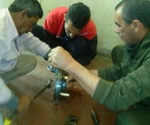 المعامل الهندسية بمصلحة الميكانيكا: إصلاح عطل الوحدة رقم 10 بمنطقة السلام 4