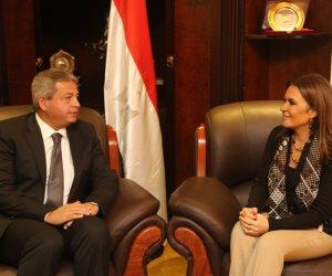 وزير الرياضة يلتقى وزيرة الاستثمار والتعاون الدولي