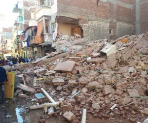 انهيار عقار قديم دون وقوع إصابات بحي غرب الإسكندرية (صور)