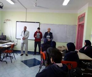 مدرسة المتفوقين بكفر الشيخ تعلن الحداد والتضامن مع أسر شهداء الروضة