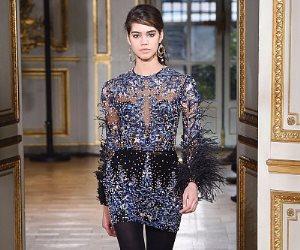 الفساتين القصيرة والورود والجامبسوت تميز مجموعة الشتاء للمصمم العالمي زهير مراد