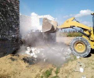 إزالة 14 حالة تعدي على الأراضي الزراعية بالدلنجات (صور)