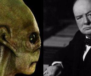 ما هي العلاقة بين تشرشل والكائنات الفضائية؟