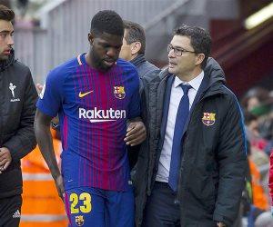 رسميا..صامويل أومتيتي يغيب 8 أسابيع عن برشلونة بسبب الإصابة