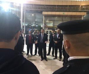 مدير أمن المواني يتفقد اجراءات تأمين مطار شرم الشيخ لاستقبال ضيوف الكوميسا