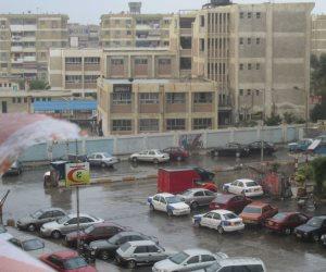 أمطار غزيرة ببورسعيد توقف معديات نقل المواطنين (صور)