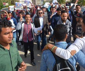 جامعة الفيوم تنتفض ضد قرار نقل السفارة الأمريكية إلى القدس (صور)