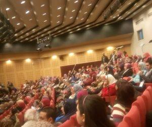 """شيرين تشارك في مؤتمر """"يوم السكر العالمي"""" بمكتبة الإسكندرية (صور)"""