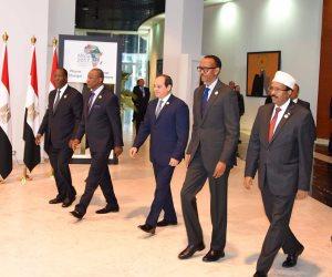 الرئيس السيسي يصل مقر انعقاد مؤتمر إفريقيا 2017 فى شرم الشيخ