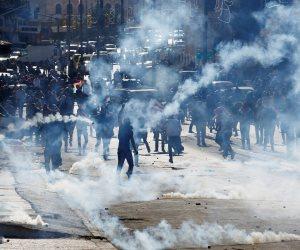 مواجهات فى بيت لحم بين القوات الإسرائيلية و محتجين فلسطينيين على خطة ترامب