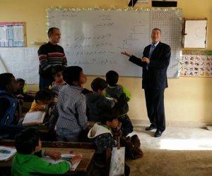 مديرية التربية والتعليم بشمال سيناء: قوافل لمدارس قرية الروضة (صور)