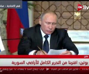 بوتين: روسيا مستعدة لعودة الطيران إلى مصر