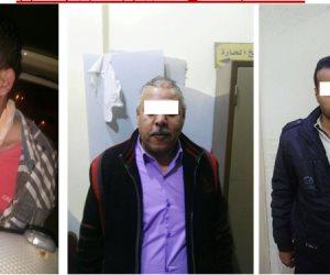 القبض علي ثلاث متهمين هاربين من 300 حكم قضائي