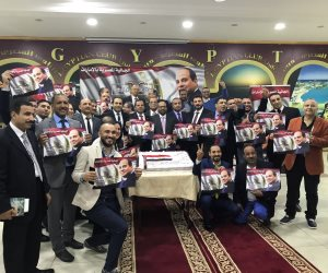 """""""علشان تبنيها"""" تلتقي الجالية المصرية بالإمارات لعرض إنجازات الرئيس (صور)"""