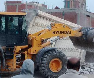 إزالة 30 حالة تعدي على الأراضي الزراعية شرق الإسكندرية خلال حملة مكبرة