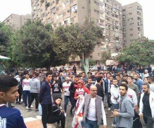 جمهور الزمالك يفض الوقفة الاحتجاجية أمام النادي (صور وفيديو)