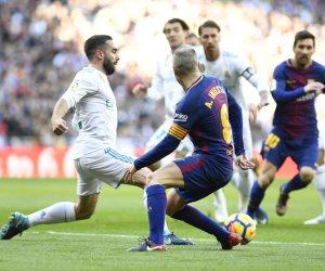 لويس سواريز يفض الاشتباك ويتقدم لبرشلونة بالهدف الأول في مرمى الريال