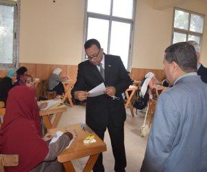 """رئيس جامعة المنوفية يتفقد سير الامتحانات """"صور"""""""