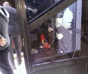 أول صور من أمام كنيسة حلوان بعد تعرضها لهجوم إرهابي