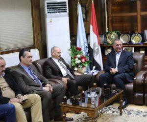 محافظ كفر الشيخ يستقبل مساعدى وزير الداخلية لمتابعة الحالة الأمنية وأعياد الميلاد  ( صور  )