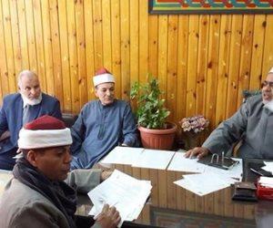 مدير المنطقة الأزهرية يجتمع بممثلي الإدارات بالازهر لتنسيق مسابقة القدس عربية