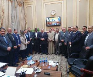 الهيئة البرلمانية لحزب مستقبل وطن تستقبل وكيل مجلس النواب السيد الشريف (صور)